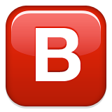 Negative Squared Latin Capital Letter B Emoji (Apple/iOS Version)