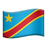 Flag For Congo - Kinshasa Emoji (Apple/iOS Version)