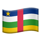 Flag For Central African Republic Emoji (Apple/iOS Version)
