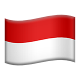 Flag For Indonesia Emoji (Apple/iOS Version)