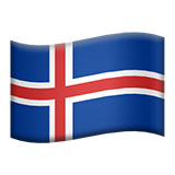 Flag For Iceland Emoji (Apple/iOS Version)