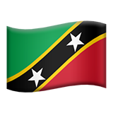 Flag For Saint Kitts And Nevis Emoji (Apple/iOS Version)