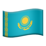 Flag For Kazakhstan Emoji (Apple/iOS Version)
