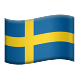 Flag For Sweden Emoji (Apple/iOS Version)