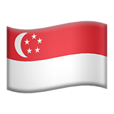 Flag For Singapore Emoji (Apple/iOS Version)