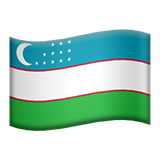 Flag For Uzbekistan Emoji (Apple/iOS Version)