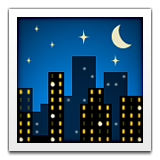 Night With Stars Emoji (Apple/iOS Version)