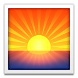 Sunrise Emoji (Apple/iOS Version)