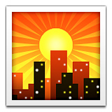 Sunset Over Buildings Emoji (Apple/iOS Version)