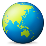 Earth Globe Asia-australia Emoji (Apple/iOS Version)