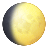 Waxing Gibbous Moon Symbol Emoji (Apple/iOS Version)