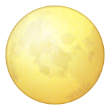 Full Moon Symbol Emoji (Apple/iOS Version)