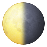 Last Quarter Moon Symbol Emoji (Apple/iOS Version)
