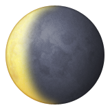 Waning Crescent Moon Symbol Emoji (Apple/iOS Version)