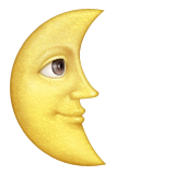 Last Quarter Moon With Face Emoji (Apple/iOS Version)