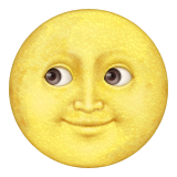 Full Moon With Face Emoji (Apple/iOS Version)
