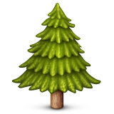 Evergreen Tree Emoji (Apple/iOS Version)