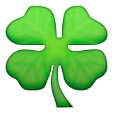 Four Leaf Clover Emoji (Apple/iOS Version)
