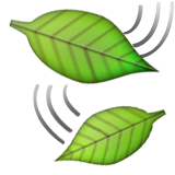 Leaf Fluttering In Wind Emoji (Apple/iOS Version)