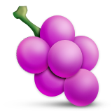 Grapes Emoji (Apple/iOS Version)