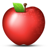 Red Apple Emoji (Apple/iOS Version)