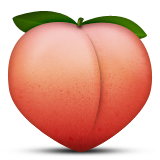Peach Emoji (Apple/iOS Version)