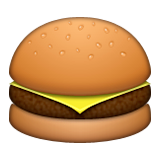 Hamburger Emoji (Apple/iOS Version)