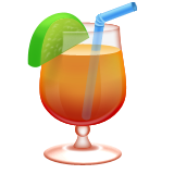 Tropical Drink Emoji (Apple/iOS Version)