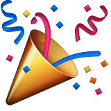 Party Popper Emoji (Apple/iOS Version)