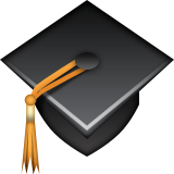 Graduation Cap Emoji (Apple/iOS Version)