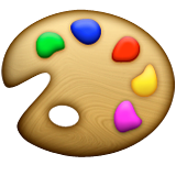 Artist Palette Emoji (Apple/iOS Version)