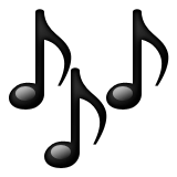 Multiple Musical Notes Emoji (Apple/iOS Version)
