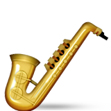 Saxophone Emoji (Apple/iOS Version)