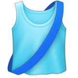 Running Shirt With Sash Emoji (Apple/iOS Version)
