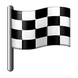Chequered Flag Emoji (Apple/iOS Version)