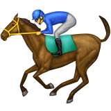 Horse Racing Emoji (Apple/iOS Version)