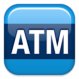 Automated Teller Machine Emoji (Apple/iOS Version)