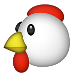 Chicken Emoji (Apple/iOS Version)