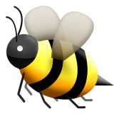 Honeybee Emoji (Apple/iOS Version)