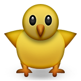 Front-facing Baby Chick Emoji (Apple/iOS Version)