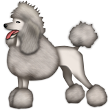 Poodle Emoji (Apple/iOS Version)