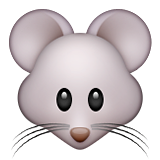 Mouse Face Emoji (Apple/iOS Version)