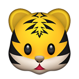 Tiger Face Emoji (Apple/iOS Version)