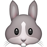 Rabbit Face Emoji (Apple/iOS Version)