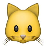 Cat Face Emoji (Apple/iOS Version)