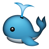 Spouting Whale Emoji (Apple/iOS Version)
