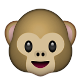 Monkey Face Emoji (Apple/iOS Version)