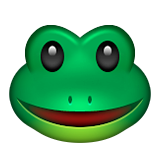 Frog Face Emoji (Apple/iOS Version)
