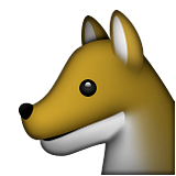 Wolf Face Emoji (Apple/iOS Version)
