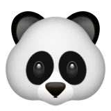 Panda Face Emoji (Apple/iOS Version)
